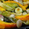 Citrouille et légumes rôtis au four. Comment les cuire ensemble le plus naturellement possible en gardant toutes les saveurs du légume?