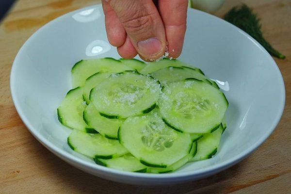 """L'été approche et vous pensez ''maillot de bain"""". La salade de concombres sauce à la grecque est faites pour votre gourmandise. Rapide à faire et légère à déguster, cette salade minceur vous apporte toute la fraicheur nécessaire à votre bien être et maintien votre ligne en santé optimale"""