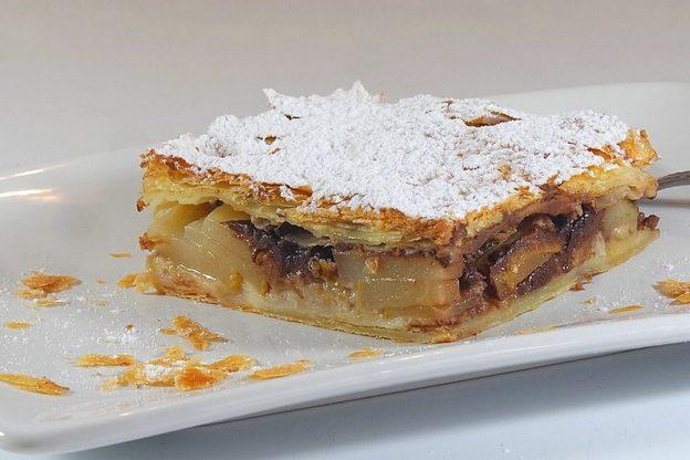 Feuilletine banane poire chocolat. Rodolphe Briec. Blog Court-bouillon
