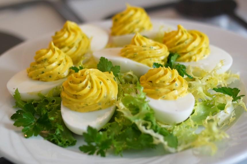 Les œufs mimosa